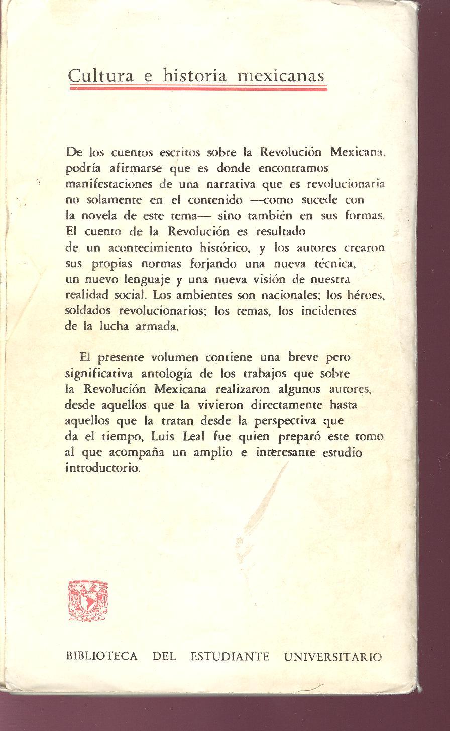 0ce67c7cd CUENTOS DE LA REVOLUCION   El cuento desde México